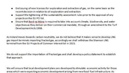 Ireland Puts a Halt to Natural Gas